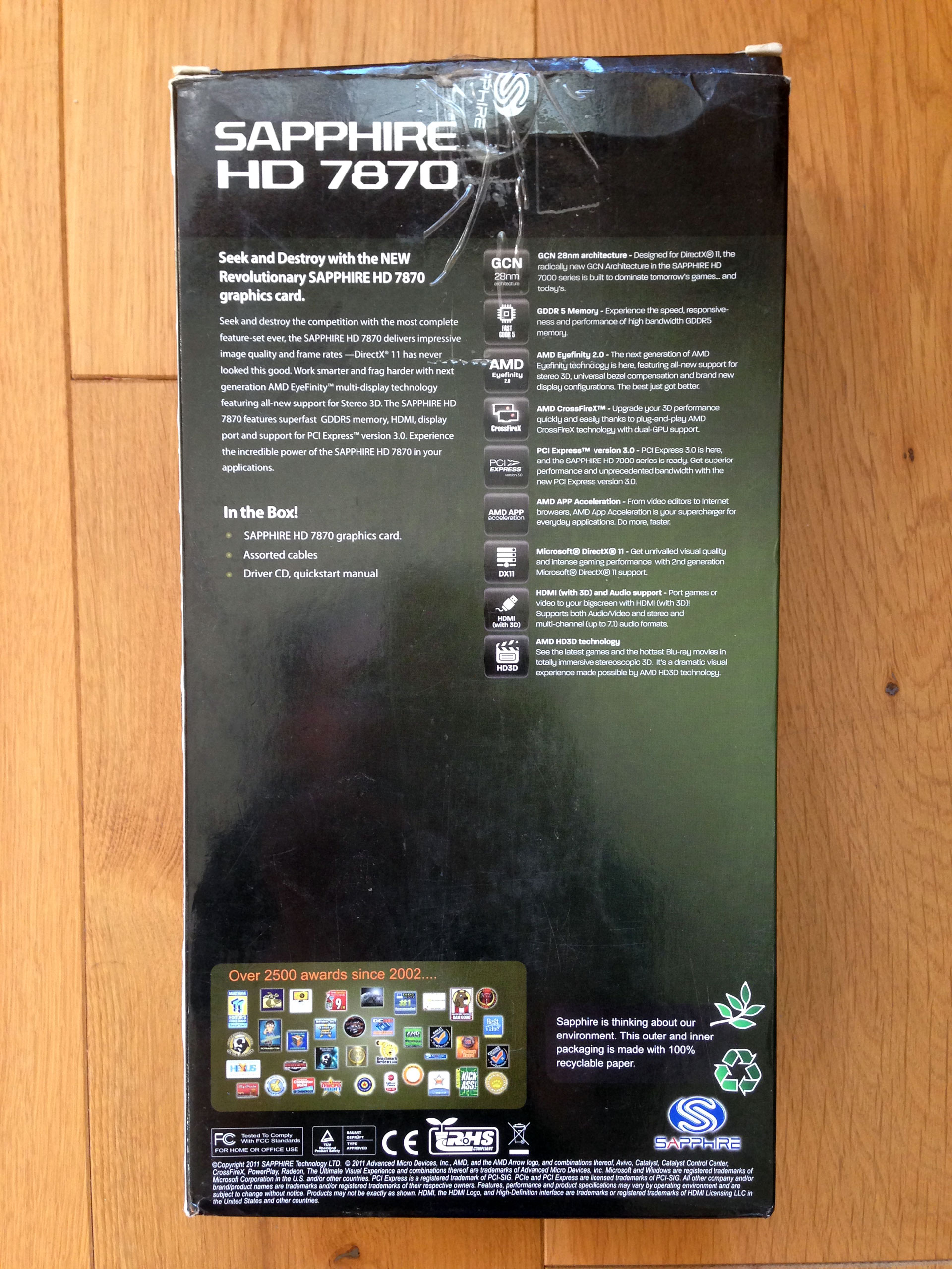 SAPPHIRE AMD RADEON HD 7870 GHz Edition